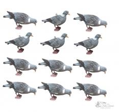 Чучела голубей вяхирь Sport Plast 12шт.